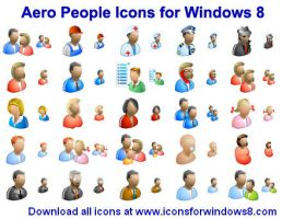 Aero People Icons for Wind... by Ikont