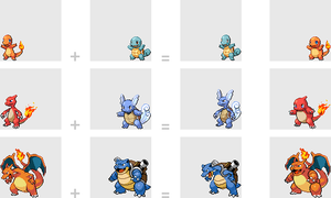 004 Charmander + 007 Squirtle by mondecolore