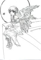Gothic Angel lineart by bunnify
