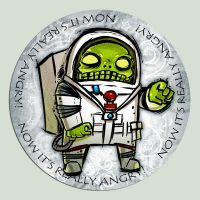 Zombie Astronaut by ivanev