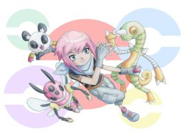 Isaak and his Pokemon by GregAndrade