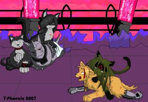 Peril in Lab 5 by Heliotrope-Housecat