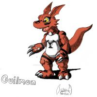 Guilmon by soul-silver-dragon