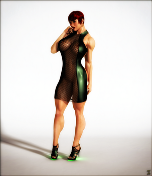 Maia - Latex and Mesh - Front by ExGemini
