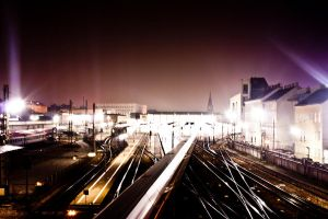Vienna's Westbahnhof is shining by Onatcer