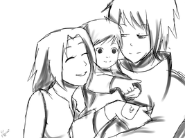 Happy Families -sketch by pepperlicious
