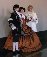 Ouran Host Club Fancy Outfits by evaliation