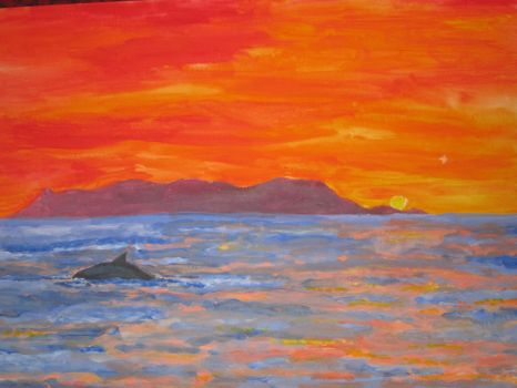 Sunset over Catalina Island by AK47Blueberry