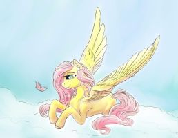 Fluttershy's quiet beauty. by viwrastupr