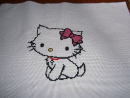 Charming Kitty cross stitch by Nenetchy