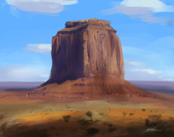 Monument Valley Speedpainting by AlexRuizArt