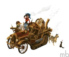 Steampunkish Time Machine by ysucae