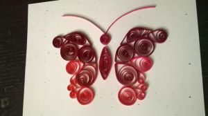 Red quilled butterfly by Jenni1361