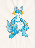 swampert painted by Dormin-Kanna