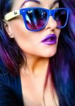 purple hair by L-A-Addams-Art