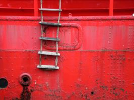 Rope ladder on fire boat by KavaFoto