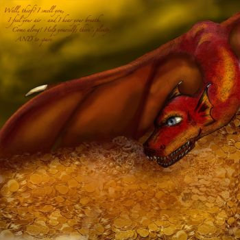 Smaug the Dragon by perfectlypunky