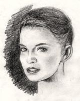 Sarah in charcoal by JackMartinJr