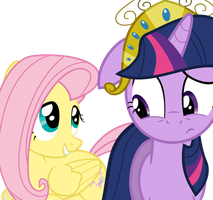 Fluttershy and Twilight Sparkle by Fluttershy-12