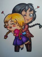 HG Katniss and Prim Everdeen chibi by Shinku-chan