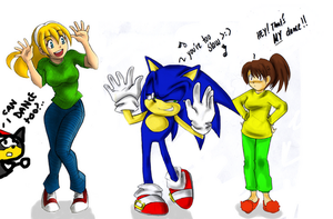 Caramelldance Kyle and Sonic.. by missyuna