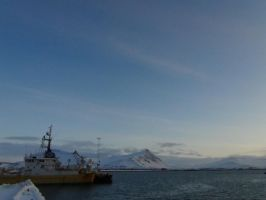 The harbour and the mountains. by Nammi-namm