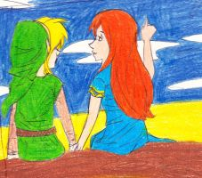 Link and Marin by lane-nee-chan