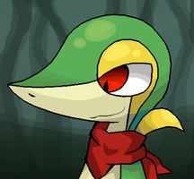 Bronk 'Gluttony' the Snivy ::Eyes Open:: by FutureDiarist