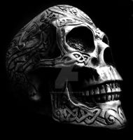 Tribal skull by soulless666