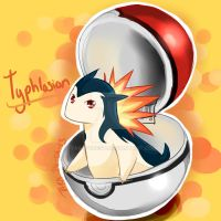 Commission - Chibi Typhlosion by taraforest