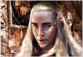 Thranduil light and shadow by Betka
