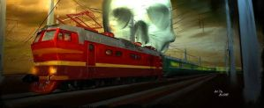 Dead train by AlexStiff