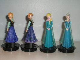 Frozen toys repaint by AnimeGeer