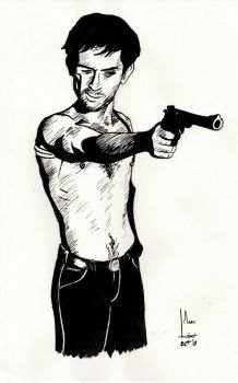 Travis Bickle (Robert De Niro) - #Inktober #day1 by SubliminAlex
