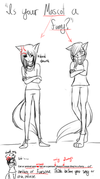 What really irritates me,'Is your mascot a furry?' by Hooded13