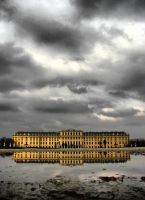 Reflection of Schoenbrunn by staffansladik