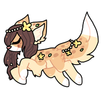 Flower dog adopt by puqqie