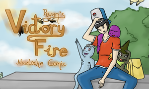 Ryan's Victory Fire Nuzlocke New Cover by Jiolyemaster