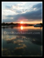 Sunset at Ranworth Broad by bicyclegasoline
