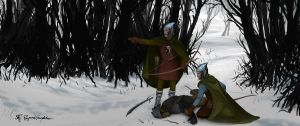 Silvan elves of Mirkwood by Shockbolt