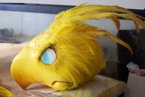 Chocobo puppet progress by d4rk1n