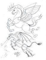 Draw Flying Horse by Diana-Huang