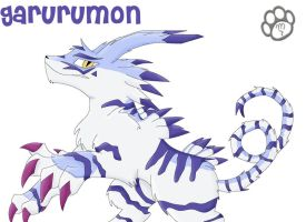 Garurumon by Marcella-Youko
