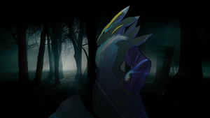 Renamon - Dark [Forest] Wallpaper by DorciMetal