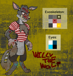 FNAF OC Adoptable - Willy The Wolf (CLOSED) by MochiFries