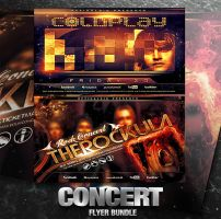 PSD Concert Flyer Bundle - 2in1 by retinathemes