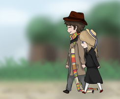 The Fourth Doctor X Romana II by DalekWithAKeyblade