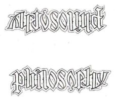 AMBIGRAM Philosophy Art  Sound by lowlife619