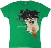 guitar t-shirt design vector by oblivious-art