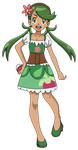 PKMN Fan artwork - Mallow's 20 anniversary Outfit by Aquamimi123